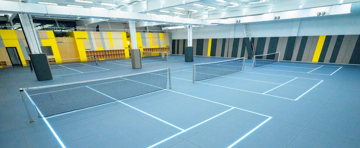 LED-Illuminated Tennis Court Facility in Queens Hero Image in Long Island City, Queens, NY