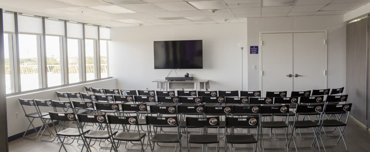Fully Equipped 5th Floor Workshop, Conference Room with Outbreak Space & Great Skyline View! in Miami Hero Image in Coral Way, Miami, FL
