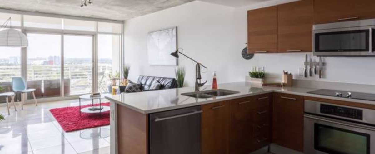 Stylish 2 bedroom midtown extra large space with lots of light in Miami Hero Image in Wynwood, Miami, FL