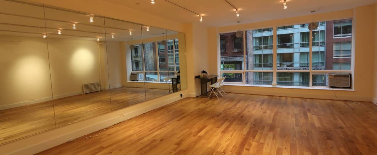 Bright Open Yoga/Dance Studio in New York Hero Image in Midtown, New York, NY