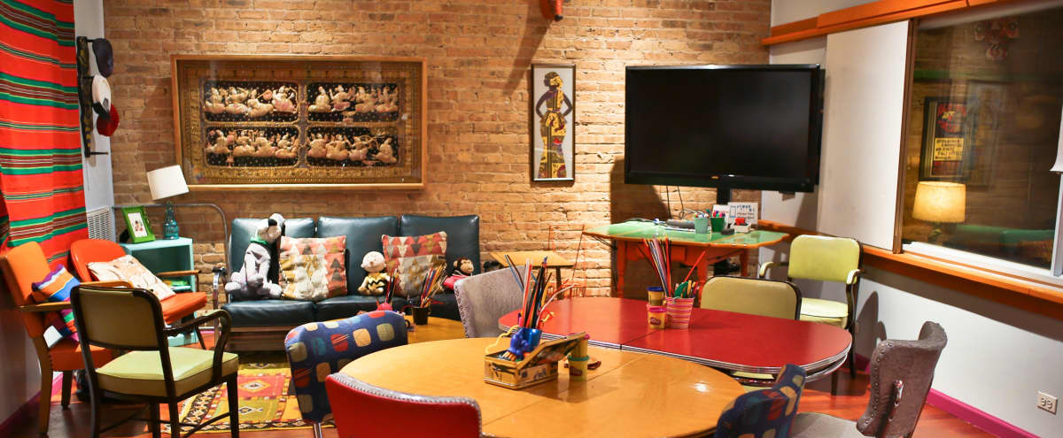 Initimate, Colorful, and Creative Meeting Space in West Loop - Foxtrot in Chicago Hero Image in West Loop, Chicago, IL