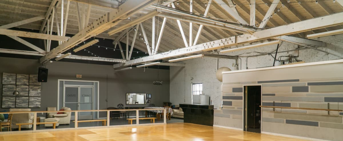 Industrial Dance Studio with Kitchen and Lounge Area in Los Angeles Hero Image in Park Mesa Heights, Los Angeles, CA