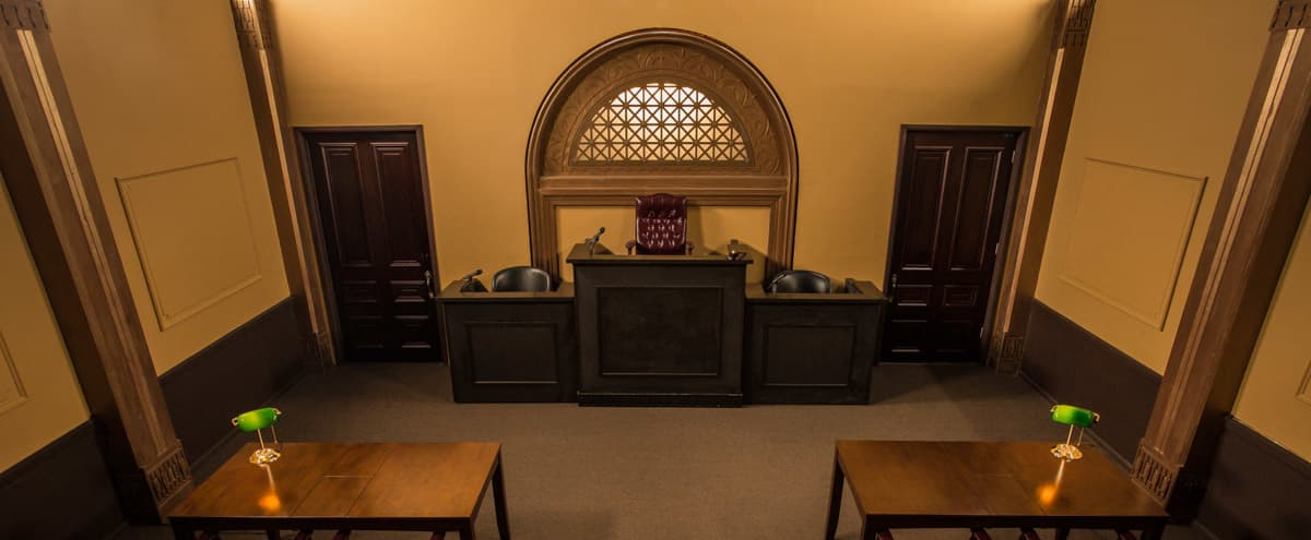 Spacious Courtroom Standing Set | FilmStudioLA in Pico Rivera Hero Image in El Rancho, Pico Rivera, CA