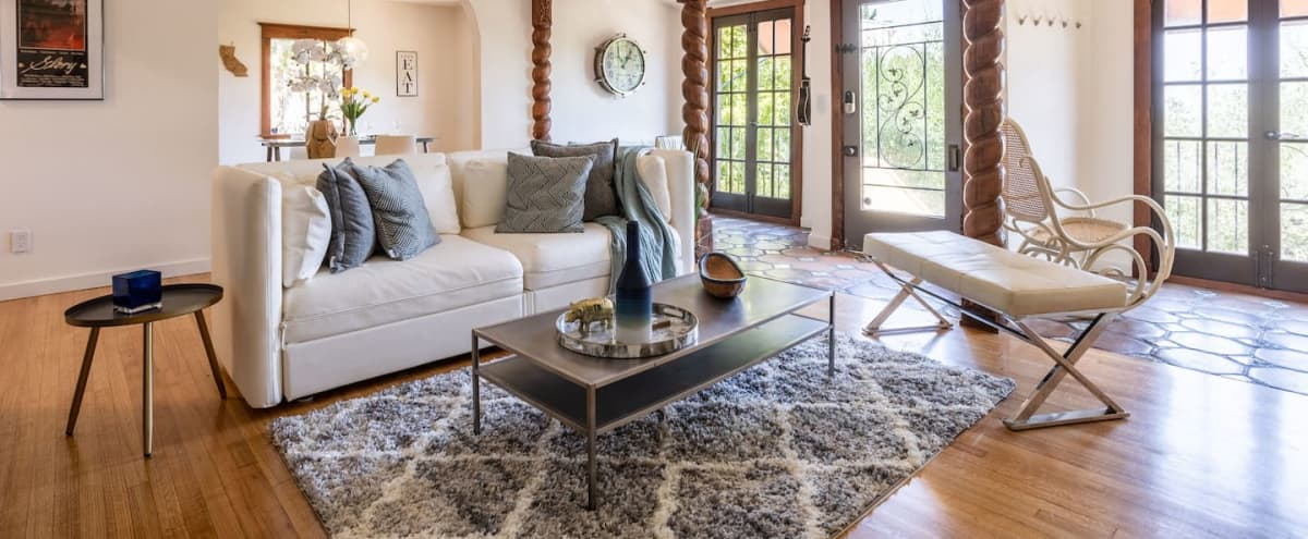 Dramatic 1920's Old Hollywood Hills Spanish Colonial Home with authentic vintage golden-age Hollywood character, views of Universal Studios and spacious outdoors in Los Angeles Hero Image in Studio City, Los Angeles, CA