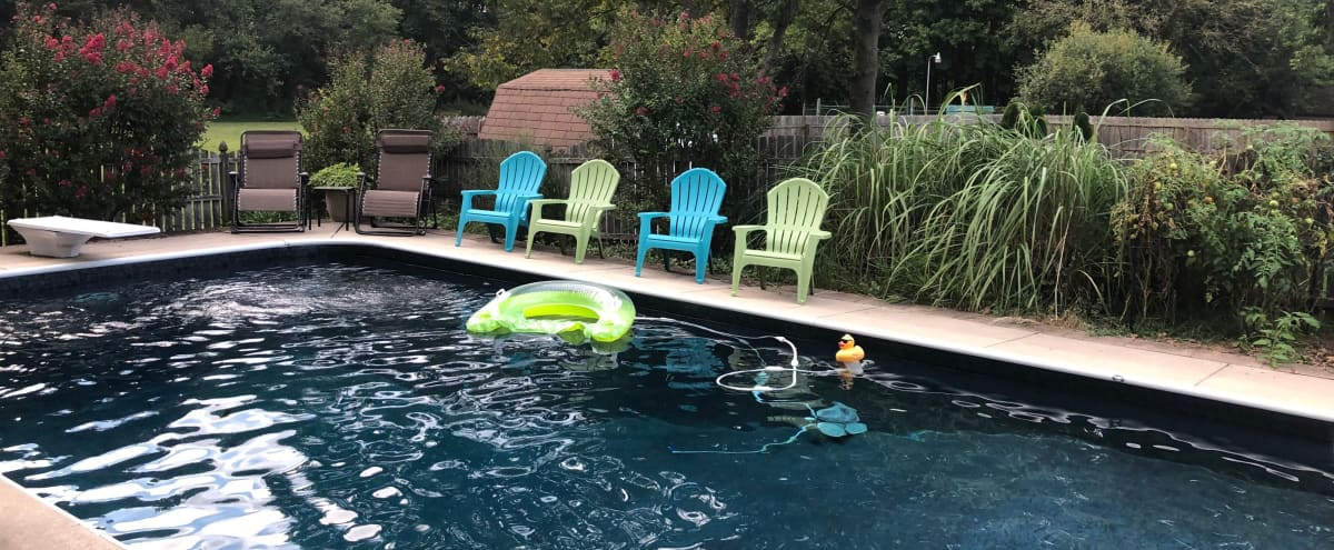 Private Backyard Great For Parties Or Productions - with Pool! in Mount Laurel Hero Image in undefined, Mount Laurel, NJ