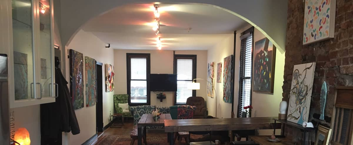 Spacious, Newly Renovated Brooklyn Brownstone in Brooklyn Hero Image in Bushwick, Brooklyn, NY