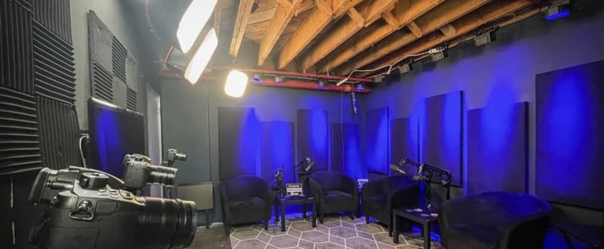Podcast Rental Space with Up to Four Mics in Los Angeles Hero Image in Hollywood, Los Angeles, CA