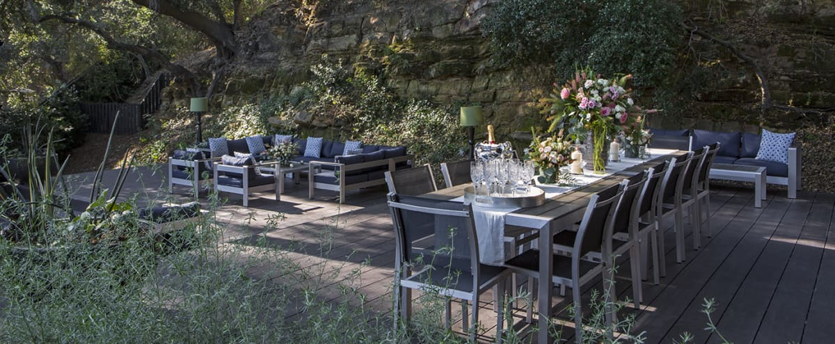 Gorgeous Outdoor Dining / Reception Room in Topanga Hero Image in undefined, Topanga, CA