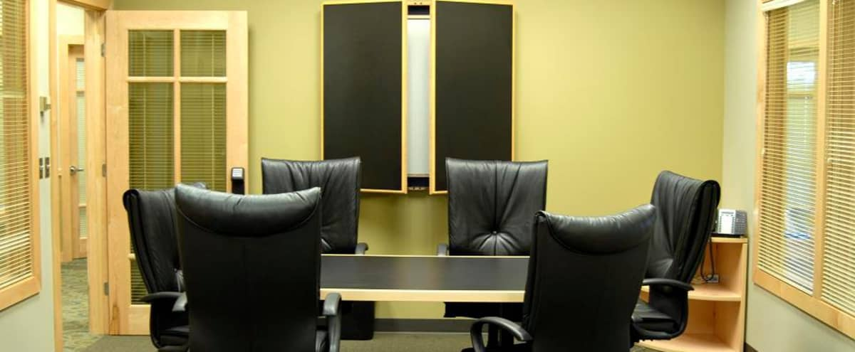 Professional Meeting Room for 6 in Denver Hero Image in East, Denver, CO