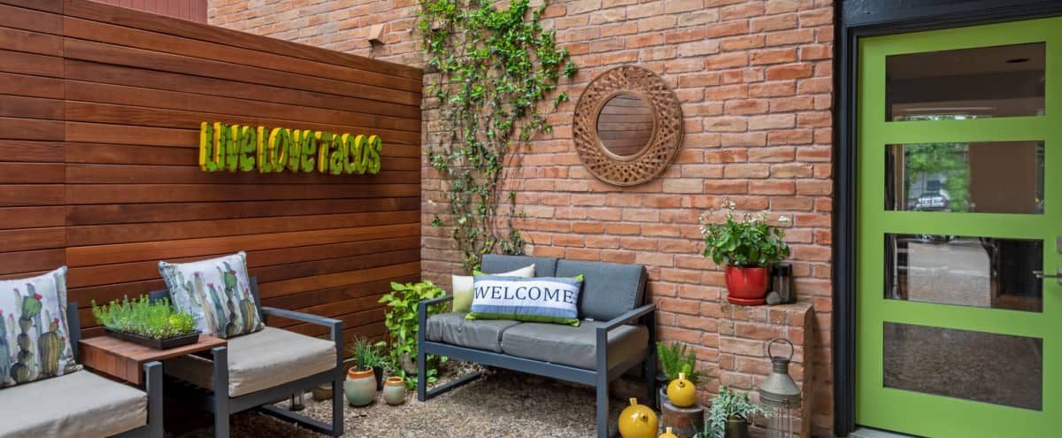 Urban Townhome with Garden Oasis in Houston Hero Image in Washington Avenue Coalition / Memorial Park, Houston, TX