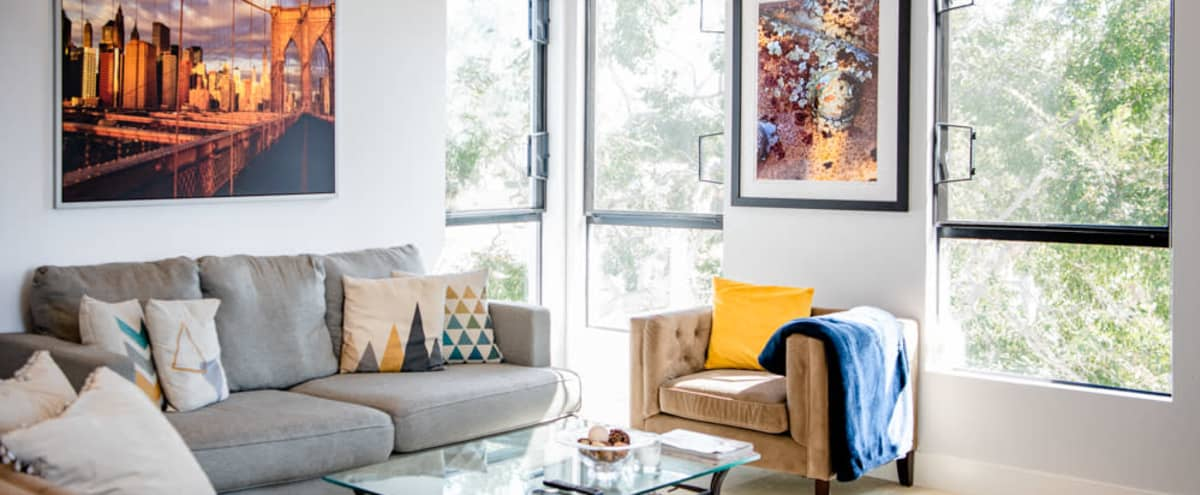 Urban Modern Apartment with Natural Light, Lots of Space, and a Skyline View in Los Angeles Hero Image in Central LA, Los Angeles, CA