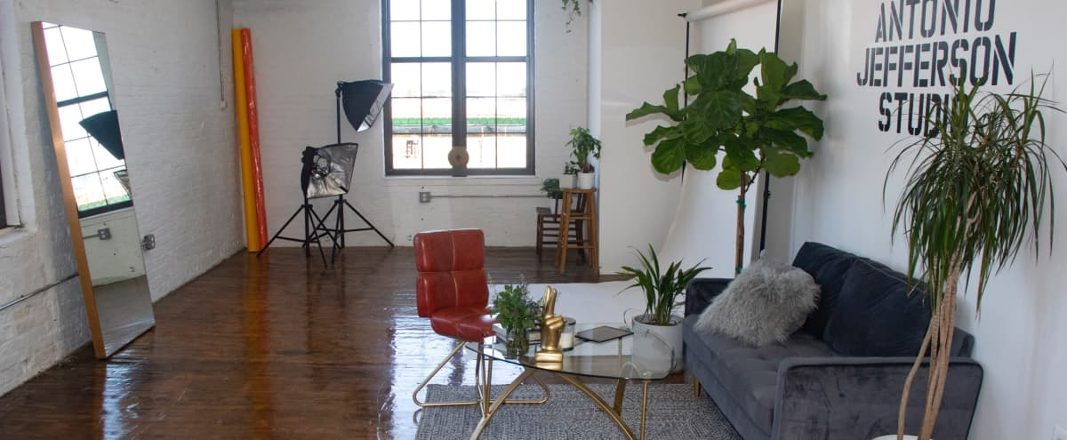 Studio Space 15' Ceilings with Natural Light in Bronx Hero Image in Mott Haven, Bronx, NY