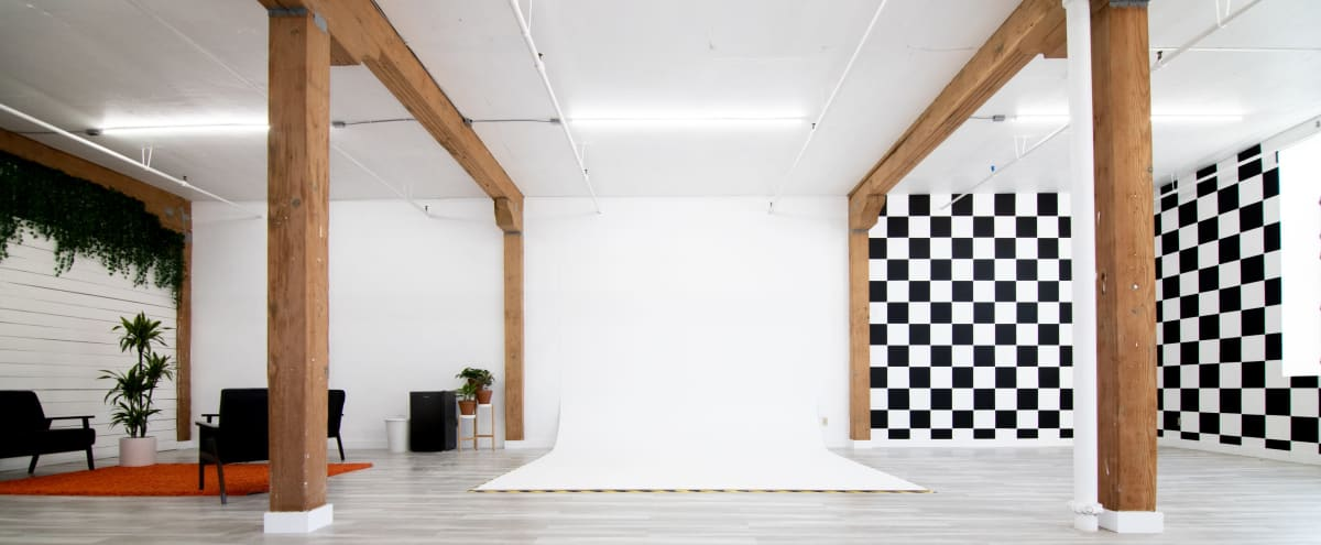 DTLA Photo Studio with Checkerboard Wall in Los Angeles Hero Image in Central LA, Los Angeles, CA