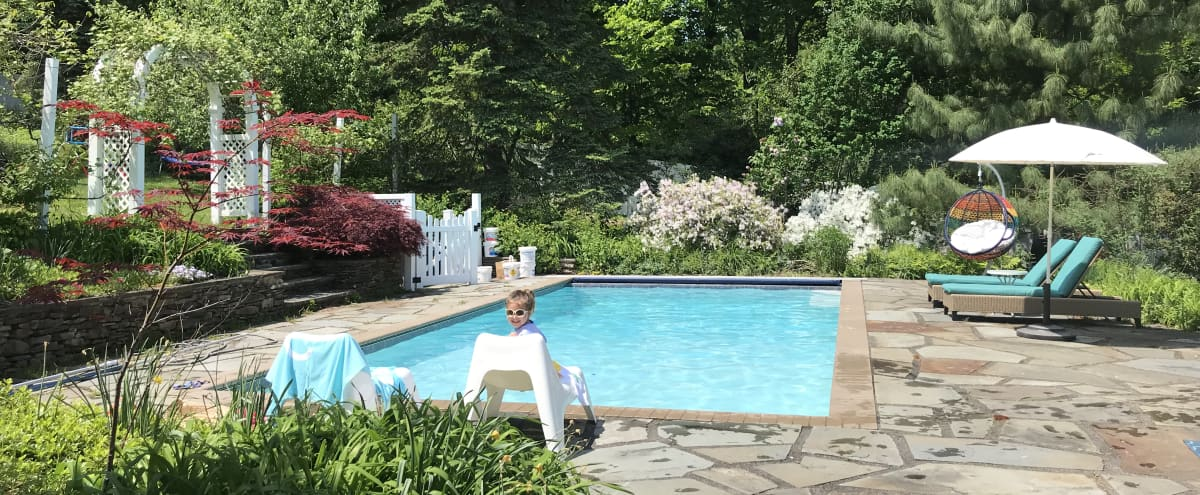 Beautiful garden with swimming pool and pond. in NYACK Hero Image in undefined, NYACK, NY