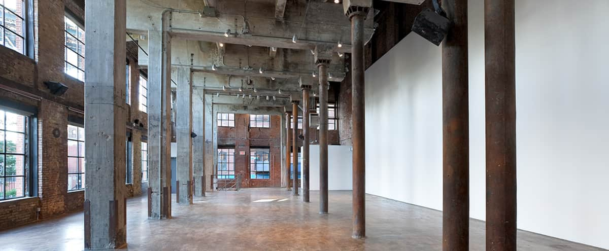Industrial, High Ceiling Venue Space with Natural Light in BROOKLYN Hero Image in Dumbo, BROOKLYN, NY