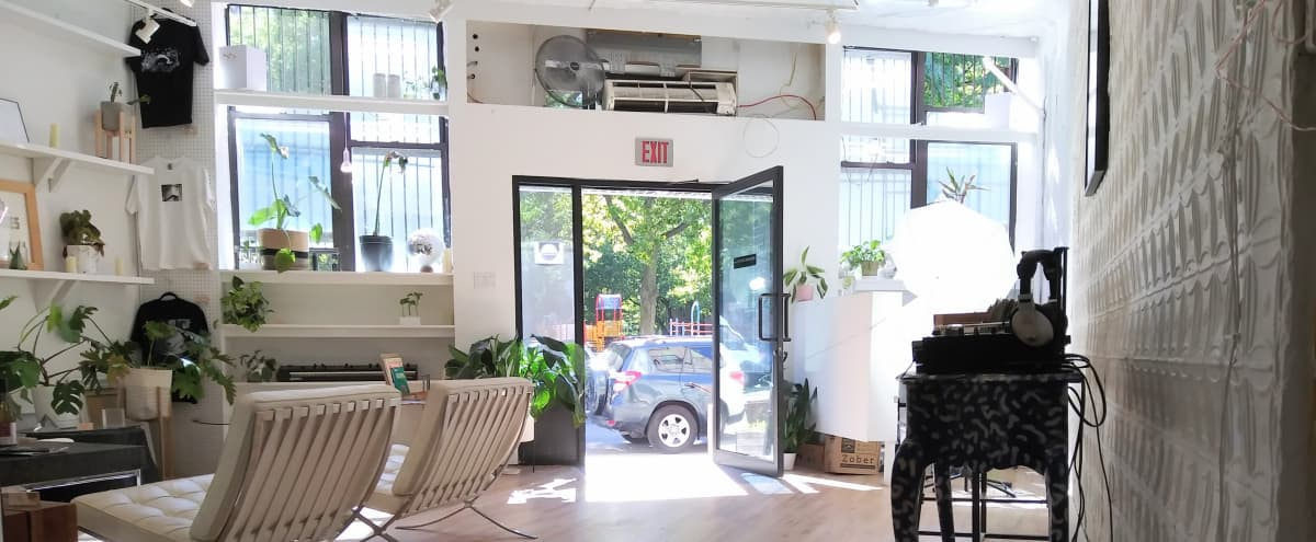 Pop-Up Storefront With Sound System | Art Gallery | Events | Custom Furniture | Prop Rental | Photo & Film Production Space In The Heart of Bushwick, Near The L & JMZ Trains in Brooklyn Hero Image in East Williamsburg, Brooklyn, NY