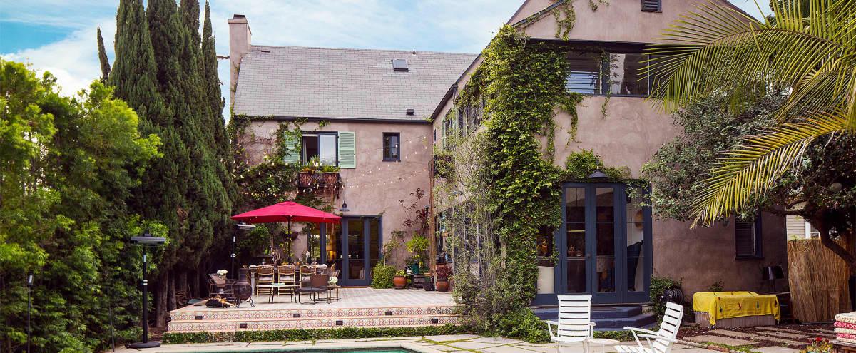 Magical Mediterranean Villa w Eclectic Designer Interiors, Swimming Pool, 4 baths / 4,000 sqft in Los Angeles Hero Image in Jefferson, Los Angeles, CA