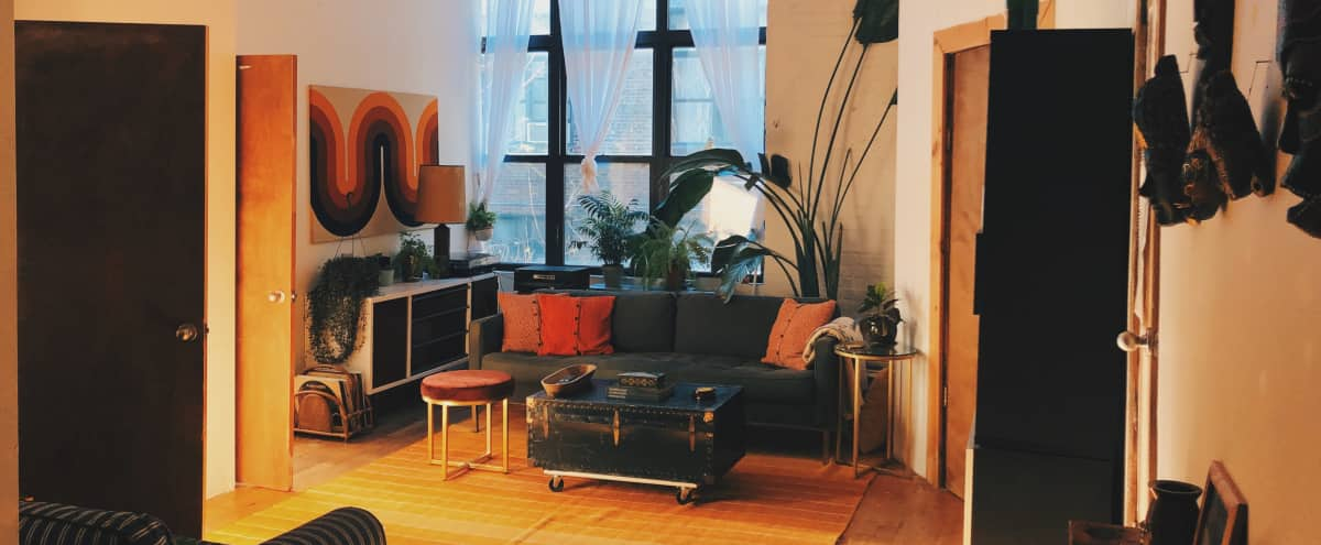 Bushwick Loft Apartment With High Ceilings Great Light And Warehouse Aesthetic