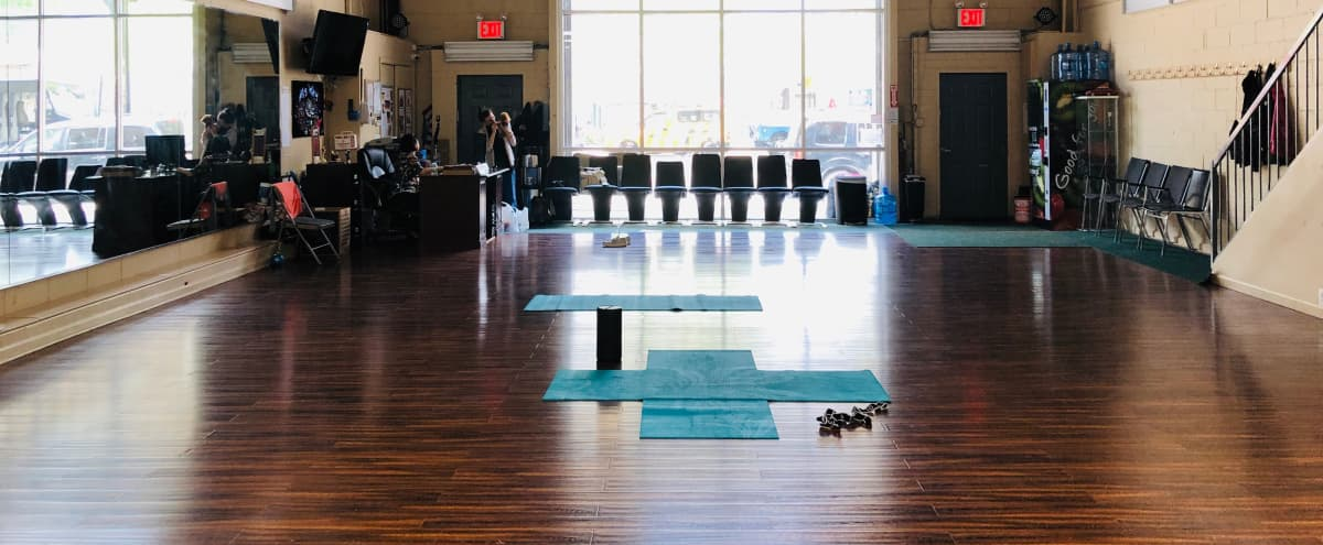 Large Urban Warehouse Type dance studio spaces with one extremely large room and one smaller room on the first floor. And additional space on the second floor. in Brooklyn Hero Image in Borough Park, Brooklyn, NY