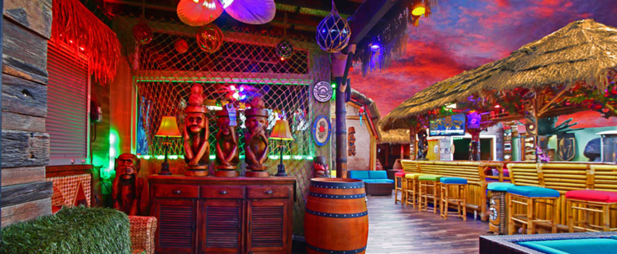 Outdoor Tropical Tiki Lounge for Parties, Team Building, Product launches. in Las Vegas Hero Image in undefined, Las Vegas, NV