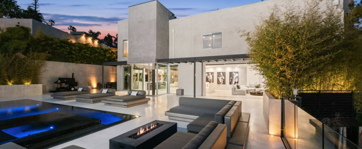 Contemporary Modern Villa with Hills Views in Los Angeles Hero Image in Central LA, Los Angeles, CA