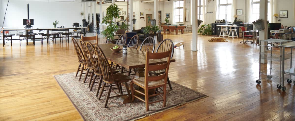 Huge Sunlit Loft Space in Old New England Mill in Framingham Hero Image in Saxonville Mills Building 3, Framingham, MA