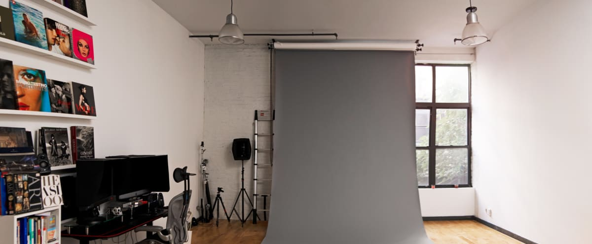 Affordable and spacious Loft with Eq Included / Photo Studio in the heart of Bushwick in Brooklyn Hero Image in Bushwick, Brooklyn, NY