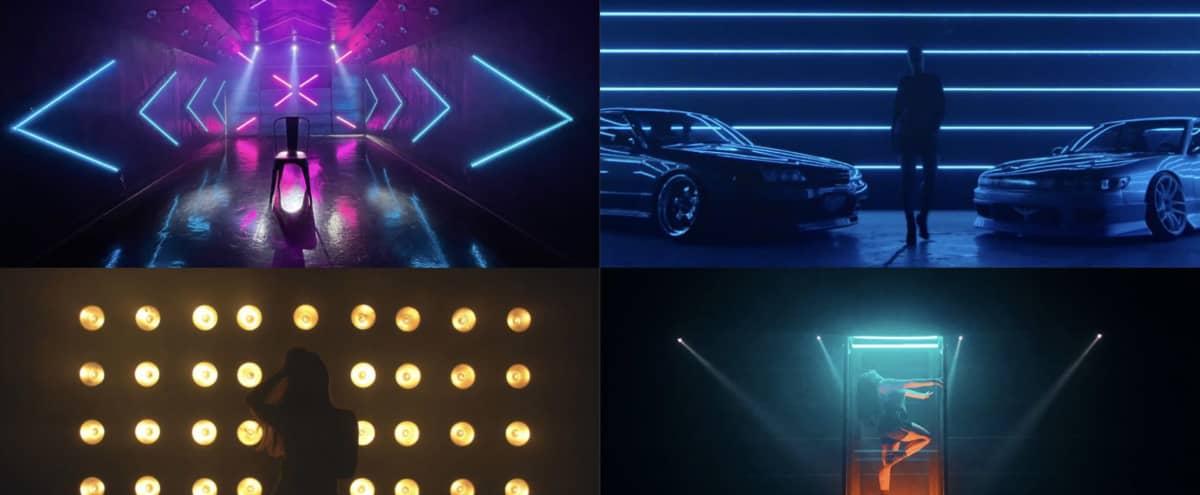 LED Car Tunnel + Moving Head Lights w/ gloss black floor in San Jose Hero Image in North San Jose, San Jose, CA