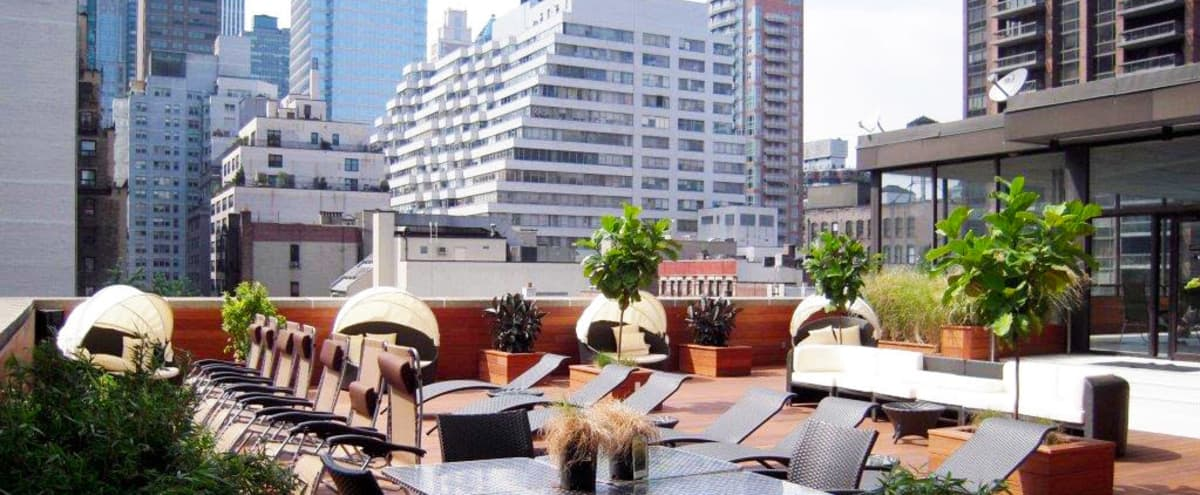 Sunny And Private Rooftop Sundeck In The Heart Of Midtown East in new york Hero Image in Midtown Manhattan, new york, NY