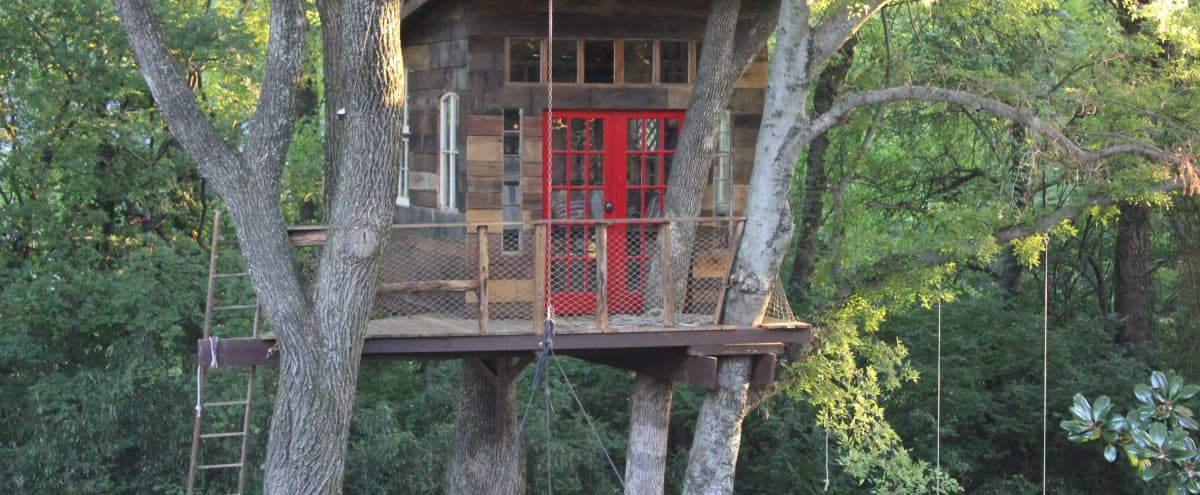 Tobacco Barn Treehouse | tall ceilings, antique windows, lots of light in Nashville Hero Image in undefined, Nashville, TN