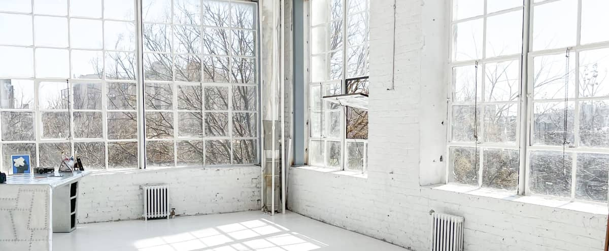 Industrial High Ceiling Artist Loft with Natural Light in Brooklyn Hero Image in Brownsville, Brooklyn, NY