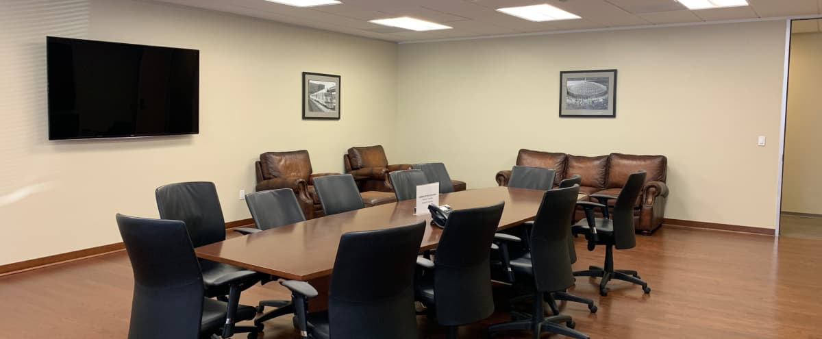 Executive Conference Room with Lounge Area in Houston Hero Image in Briarforest, Houston, TX