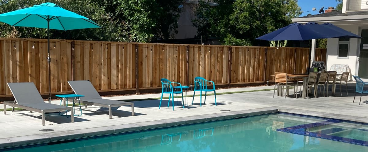 New Spacious, Modern Backyard with Pool & Hot Tub in Campbell Hero Image in San Tomas, Campbell, CA
