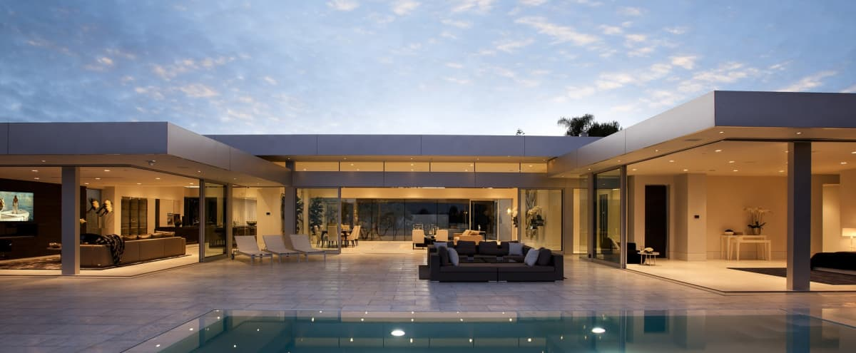 Ultra Modern Design Beverly Hills Mansion in Beverly Hills Hero Image in Trousdale Estates, Beverly Hills, CA