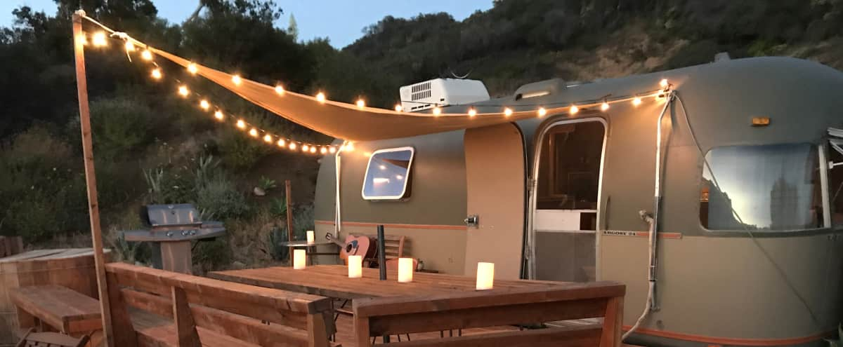 Ground Fixed Rustic Mountain Retro Airstream in Los Angeles Hero Image in undefined, Los Angeles, CA