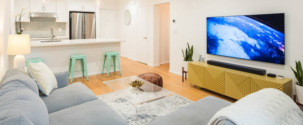 Newly Renovated WEST HOLLYWOOD Condo, Open kitchen, Wood Floors, Large private patio with views of the Hollywood Hills in West Hollywood Hero Image in Melrose, West Hollywood, CA