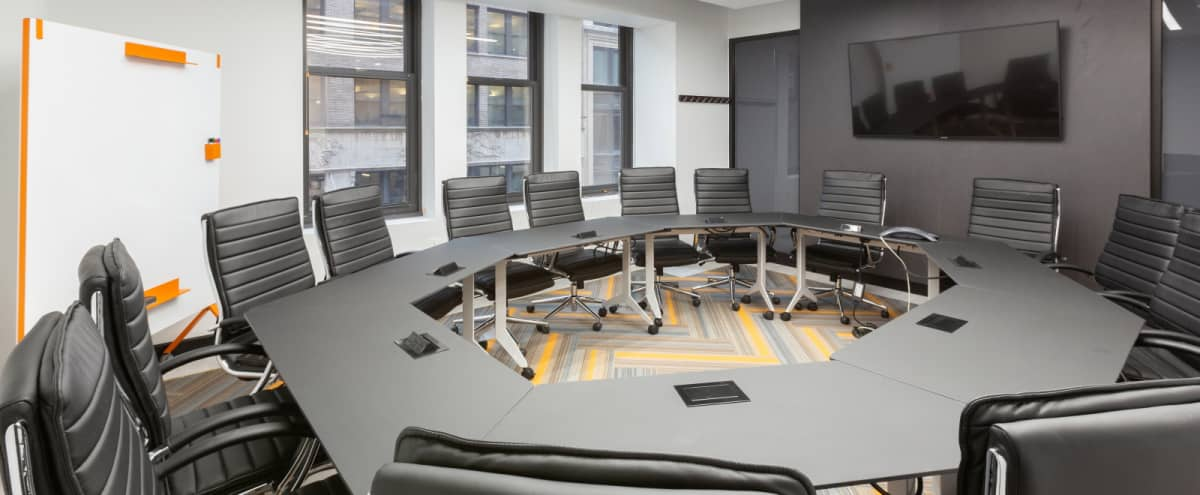 Triple window meeting space for up to 18 people-configure any style-Brand new in New York Hero Image in Midtown, New York, NY