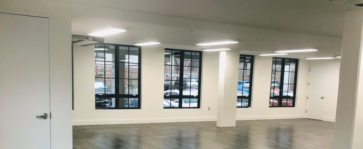 Surrounded by windows, this Bright & Beautiful Event Space in Crown Heights Brooklyn has the ability to suit any type of event. in Brooklyn Hero Image in Crown Heights, Brooklyn, NY