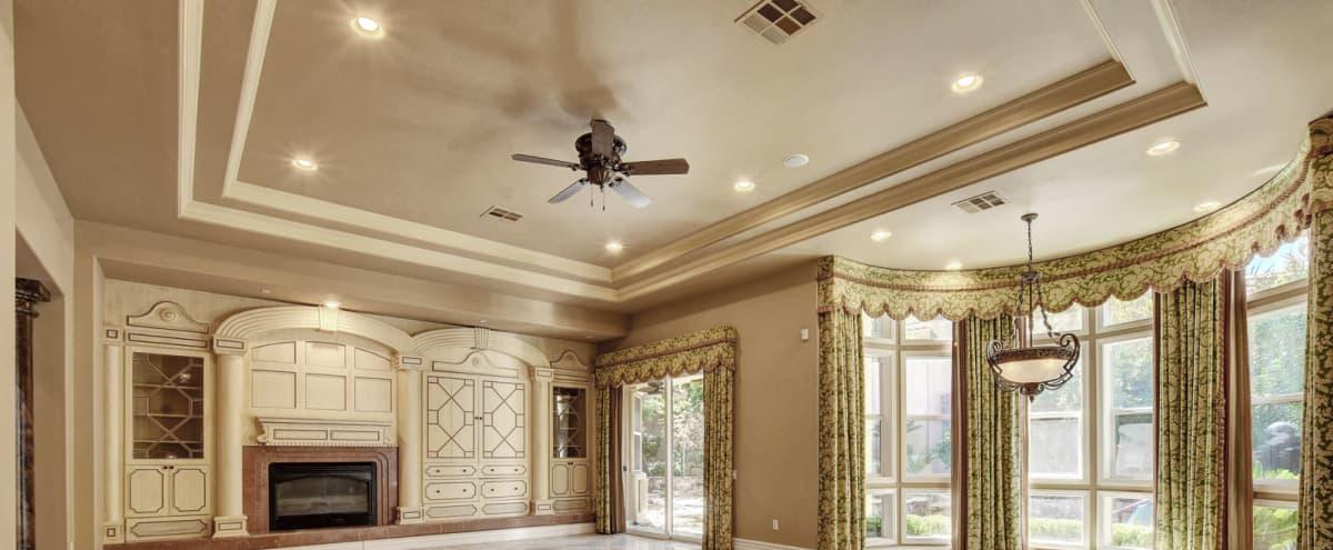 Film/Photo Location: Summerlin Luxury Home Open & Spacious w/High Ceilings, Big Windows & Backyard Oasis w/Huge Fireplace in Las Vegas Hero Image in Summerlin West, Las Vegas, NV