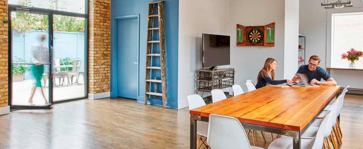 West Loop Loft Space with Skyline View and Roof Top Farm in Chicago Hero Image in West Town, Chicago, IL