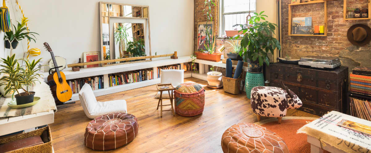 Cozy, Creative, Sunny — Bohemian Factory Loft in Brooklyn Hero Image in Bushwick, Brooklyn, NY