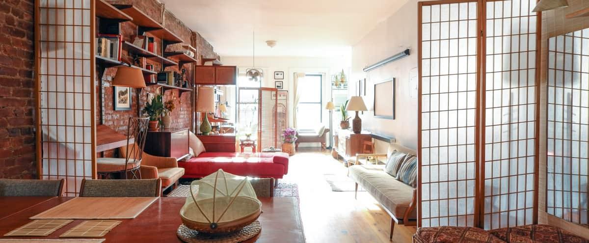 *The Deck Loft - Full Floor - Six Windows - Brick Walls - NYC* in Brooklyn Hero Image in Williamsburg, Brooklyn, NY