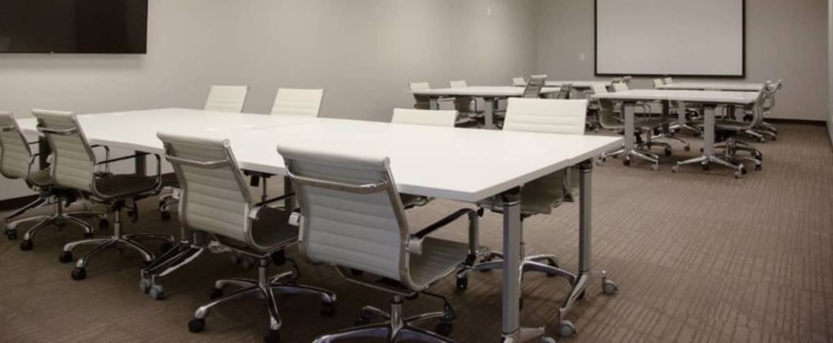 Well lit, cozy board room for 30 in a professional atmosphere in Denver Hero Image in Sunnyside, Denver, CO