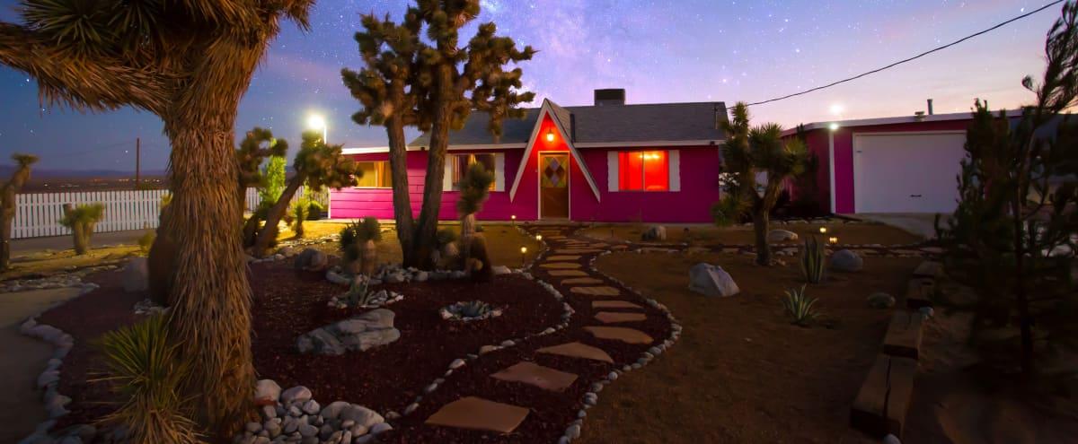 Pink 70's Retro Joshua Tree House ***HUGE 5 Acre property*** in Twentynine Palms Hero Image in Central LA, Twentynine Palms, CA