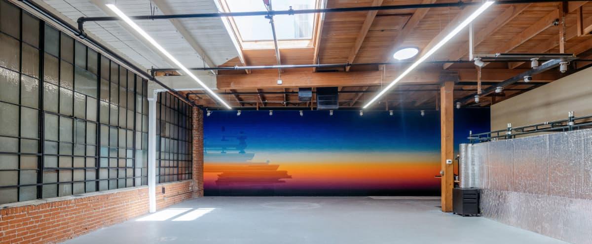 Warehouse Studio with Glowing Murals in Los Angeles Hero Image in Central LA, Los Angeles, CA