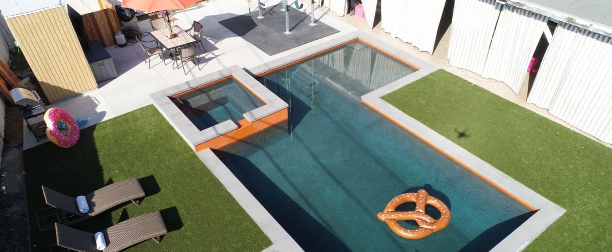 Beautiful Backyard with Heated Pool + Jacuzzi in Lake Balboa Hero Image in Lake Balboa, Lake Balboa, CA