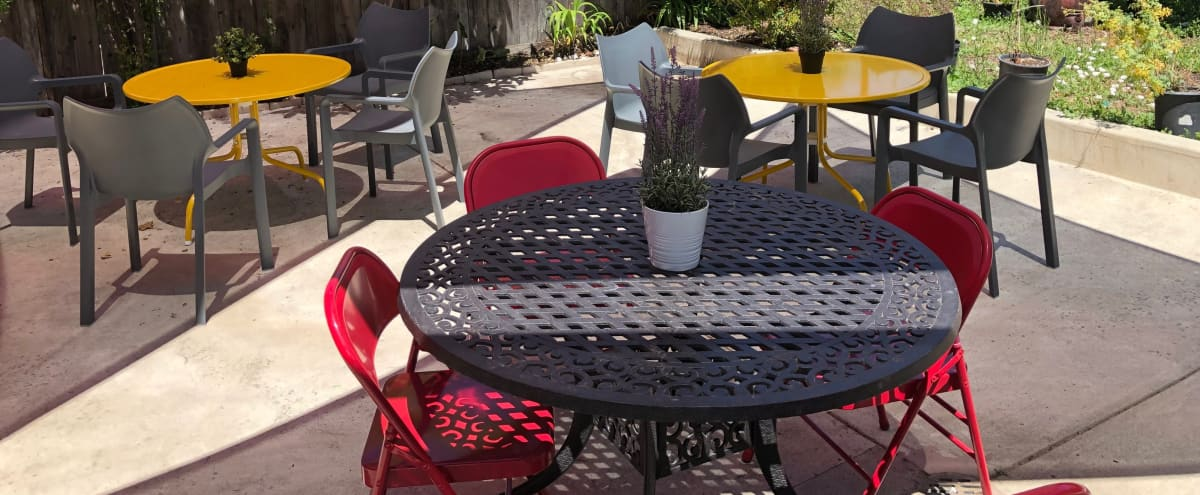 Gorgeous, spacious, outdoor patio - perfect for yoga classes, workshops, receptions in Berkeley Hero Image in Southwest Berkeley, Berkeley, CA