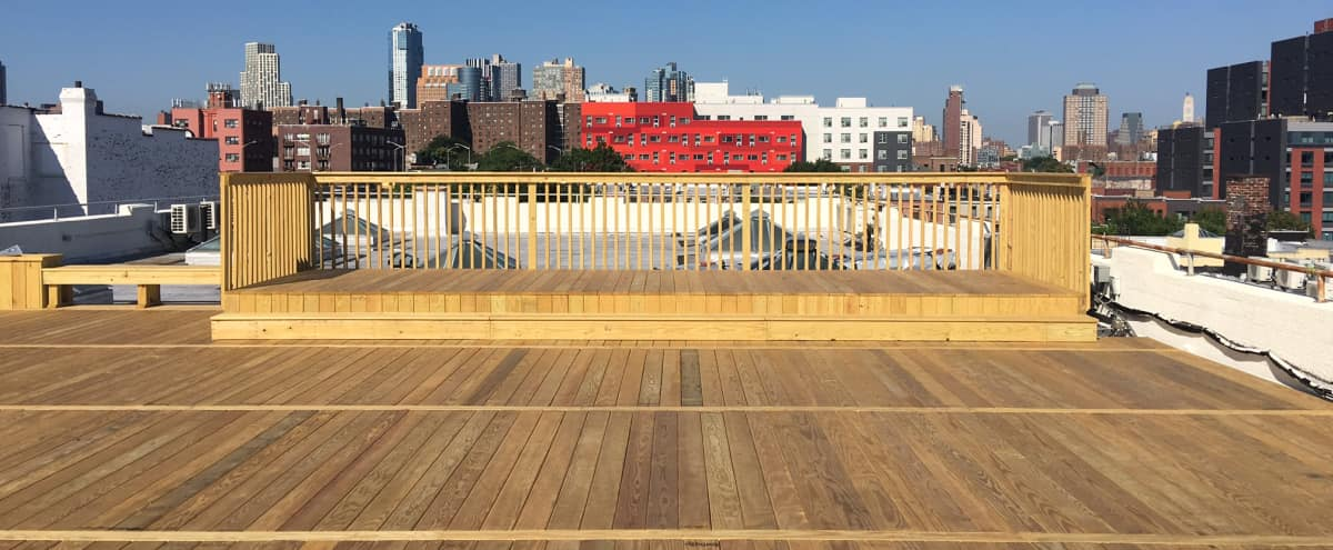 FInished Roof Deck w/City Skyline Views! Celebrate Your Occassion Under the Stars! in Brooklyn Hero Image in Clinton Hill, Brooklyn, NY