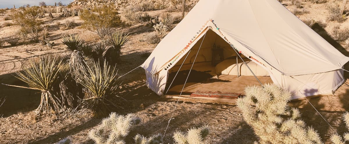Sahasrara Sanctuary Bell Tent @ Boulder's Hideaway in Yucca Valley Hero Image in undefined, Yucca Valley, CA