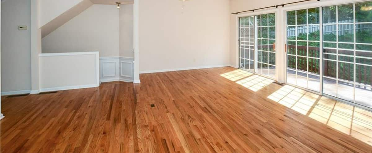 Spacious 3-story luxurious Atlanta home with forest backdrop! Great for TV, Interviews, Films, Commercials, & Photo Shoots. in Atlanta Hero Image in Towne Manor, Atlanta, GA